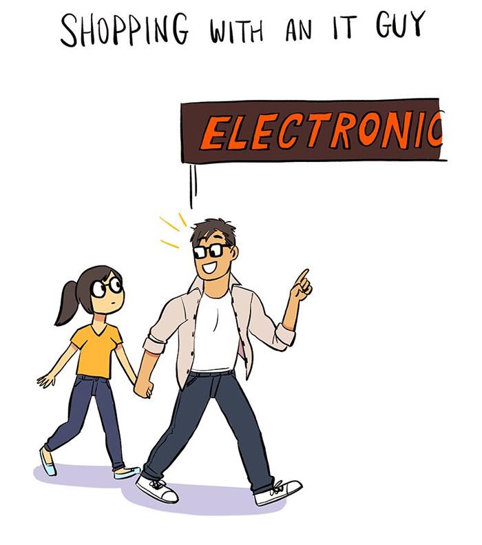 15張讓工程師驚覺「自己在世界上還有存在感」的漫畫 女友的電腦永遠需要你!