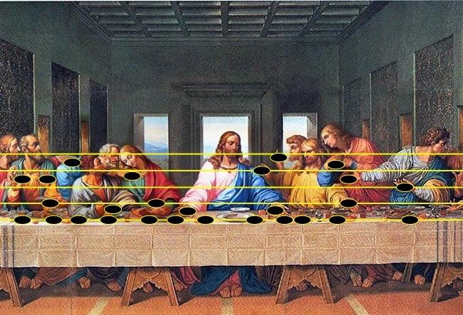 10個躲在「名畫裡最深沈祕密」 達文西在《最後的晚餐》等比劃上五線譜...勾出末日日期!