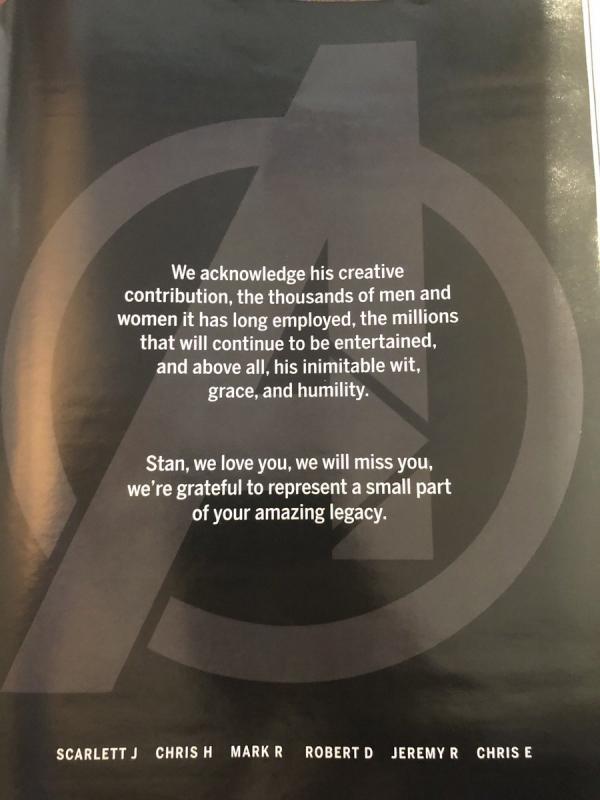 6位「初代復仇者」獻黑白悼念文 哀傷告白史丹李:能成為你的一部分真的很感激...