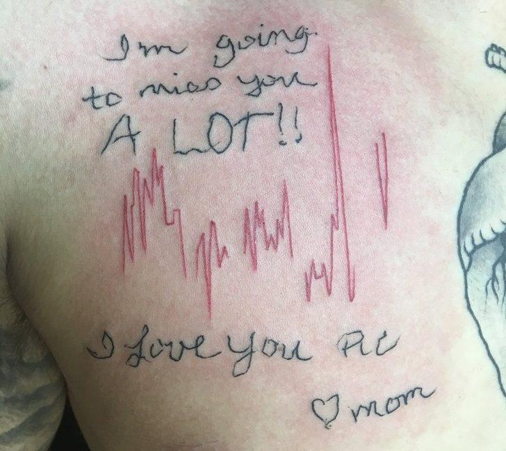 20個「光用看的就全是眼淚」的深刻刺青照 媽媽最後心跳...永遠停留在那筆畫