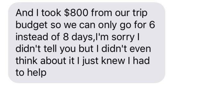 丈夫為學生從旅遊預算偷了2萬元 老婆卻感動大讚:為你驕傲