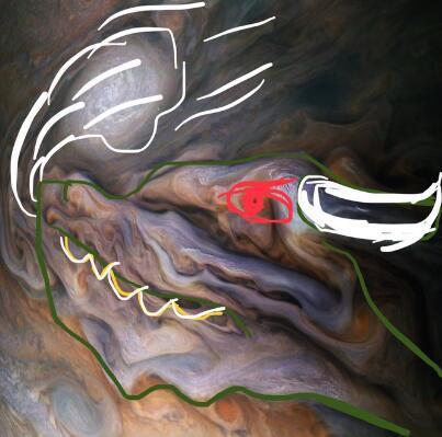 NASA曝光前所未有「木星漩渦中真相」 乍看比油畫夢幻...網驚覺:上面外星生物是龍!