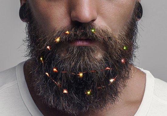 邊走邊唱叮叮噹~聖誕節最新流行「鬍子聖誕燈」 時尚這條孤獨路大叔們一起走♥