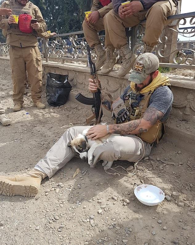 軍人在廢墟「發現奶汪」卻被迫分開 陌生人「靠鍵盤」讓他們終於能重逢