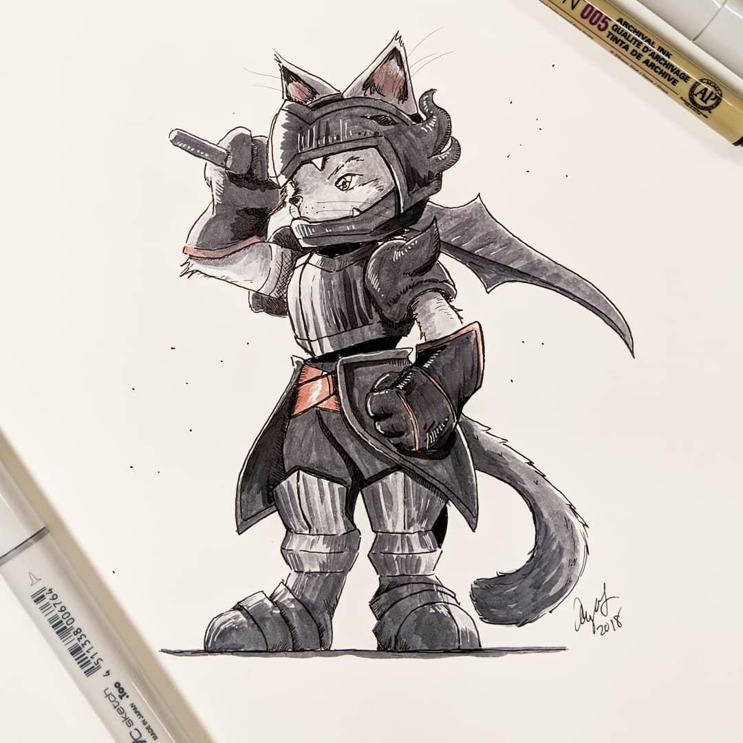 20隻化身「RPG遊戲各職業」的高冷喵星人 埃及貓就是當忍者的料!