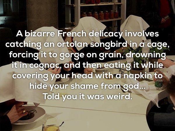 15個歷史上「廢到笑出來」的有趣事實 吃法國菜要「躲起來」不然上帝會生氣