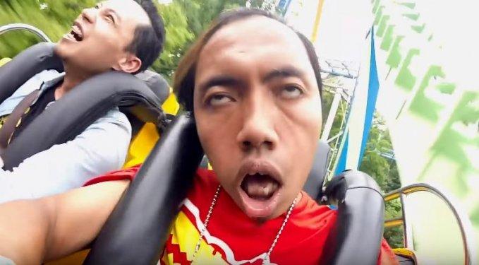 20張人們坐雲霄飛車的「驚恐表情包」 衝下去瞬間秀肌肉是什麼概念?!