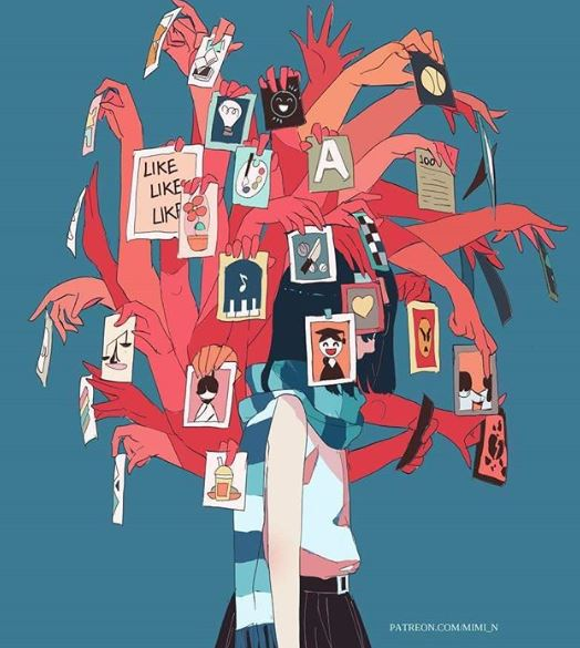 15張超暗黑人生漫畫 回頭看看鏡子「你根本不是最原本的自己」還假裝融入社會!