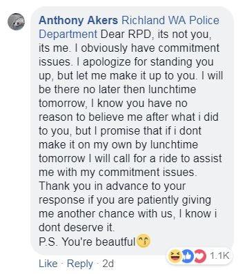 警察臉書貼通緝犯資訊 他本人竟親自回覆還上演超荒唐「浪漫愛情戲」