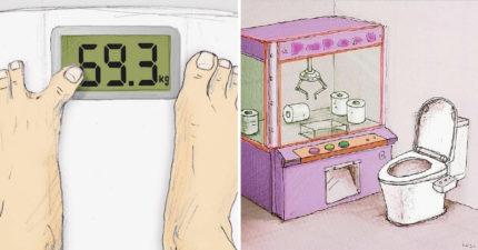 16張突破「大腦運轉極限」的爆笑漫畫 只要小尾指夠軟Q...它就是體重 10kg的關鍵