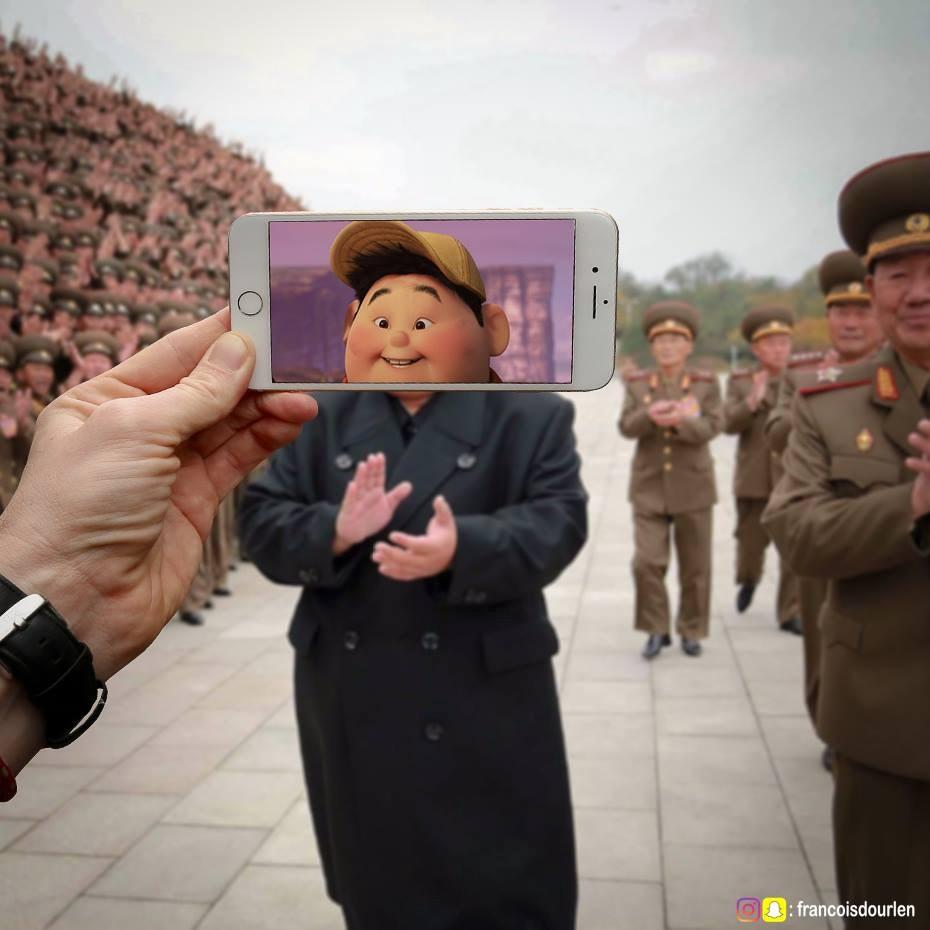 他隨意「用手機往風景一擺」就變成超酷藝術品 《獅子王》辛巴和川普整個被玩壞XD