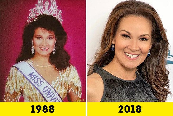 20位證明歲月只對你殘忍的「環球小姐得獎時VS現在對比照」 戰鬥民族代表根本時空旅人!