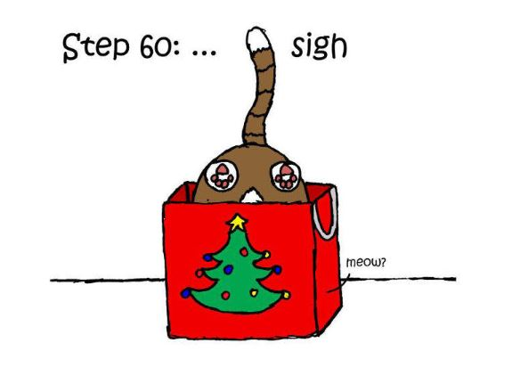 漫畫家畫出鏟屎官「包聖誕禮物的60個步驟」 腦洞大開才發現之前都做錯了XD