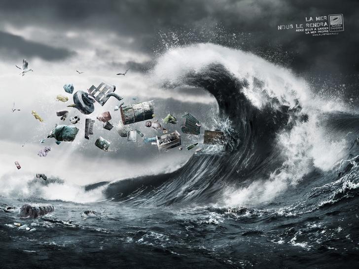 19個讓人發現「地球正在最後求救」的驚人廣告 未來的大海沒有水...只有塑膠!