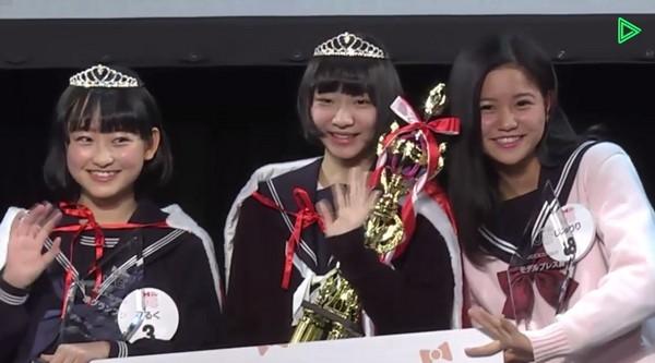日本票選「最可愛國中生」 頒獎典禮一上台...蘿莉控都要瘋了:笑起來世界都開花了:)