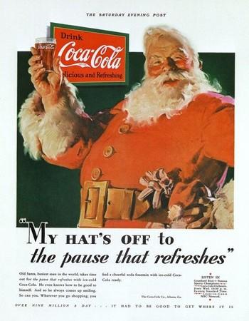 其實聖誕老公公衣服根本不是紅色 「世界霸權飲料」逼他換下綠衣變紅衣!