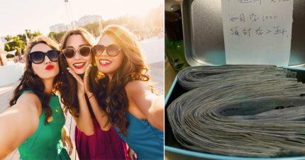 閨蜜3人約好一起存錢 「1星期封印1000」進夢想小盒子...1年半出土「10萬出國金」!