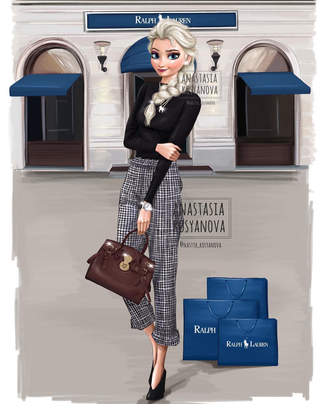 26張「顛覆你對迪士尼公主清純的想像」 穿上奢侈精品後...灰姑娘變超討厭小婊子XD