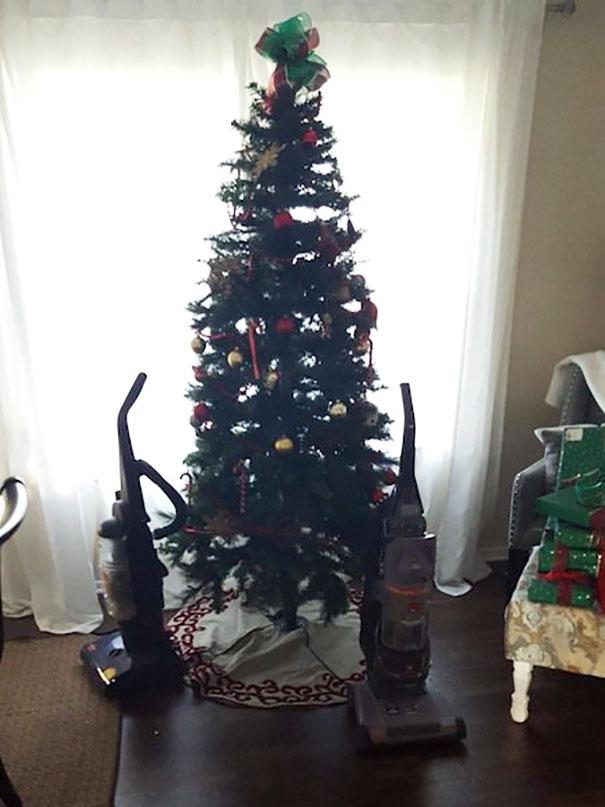 17個「聖誕樹今年應該這樣擺」的超鬧照 一切都是因為躲避主子逆襲啊XD