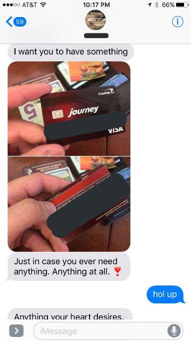 小哥追正妹獻上信用卡號:想買什麼都OK! 隔天看訊息傻眼...竟是大家的「童年夢想」
