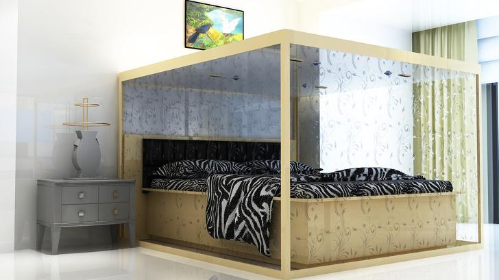 11個讓你願意「辛苦撒10個月薪水來買」的究極夢幻床! 翻起床墊直接多一個衣櫃❤