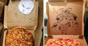 20個Pizza盒證明「店員根本高手在民間」 打開那瞬間以為梵谷在世...畫到你捨不得丟!