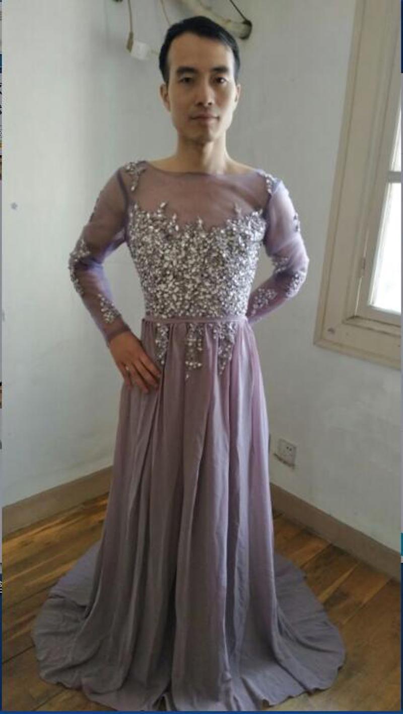 正妹想買小禮服卻收到「男扮女裝」的照片 她沒有報警反而「把卡刷爆」來報答賣家!