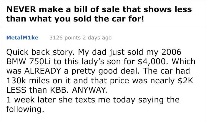他12萬賣12年BMW 一星期後竟被「暴怒索退費11萬」:我要帶警察去找你!