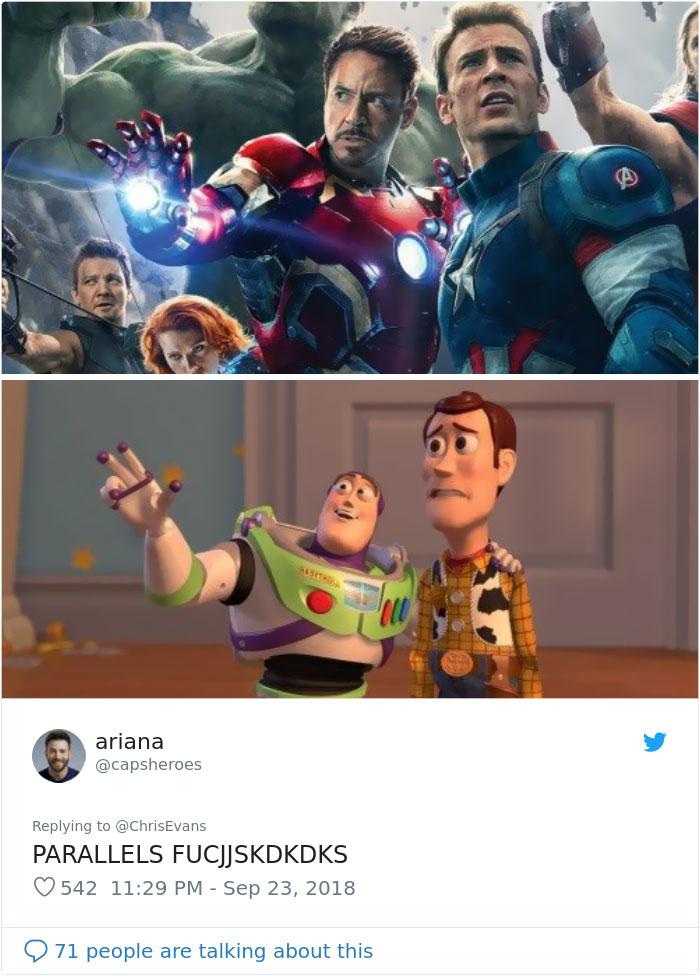 11張讓「鋼鐵人vs.美國隊長是男女主角」的電影宣傳照 「鋼鐵隊長」絕對是最強BL絕配❤