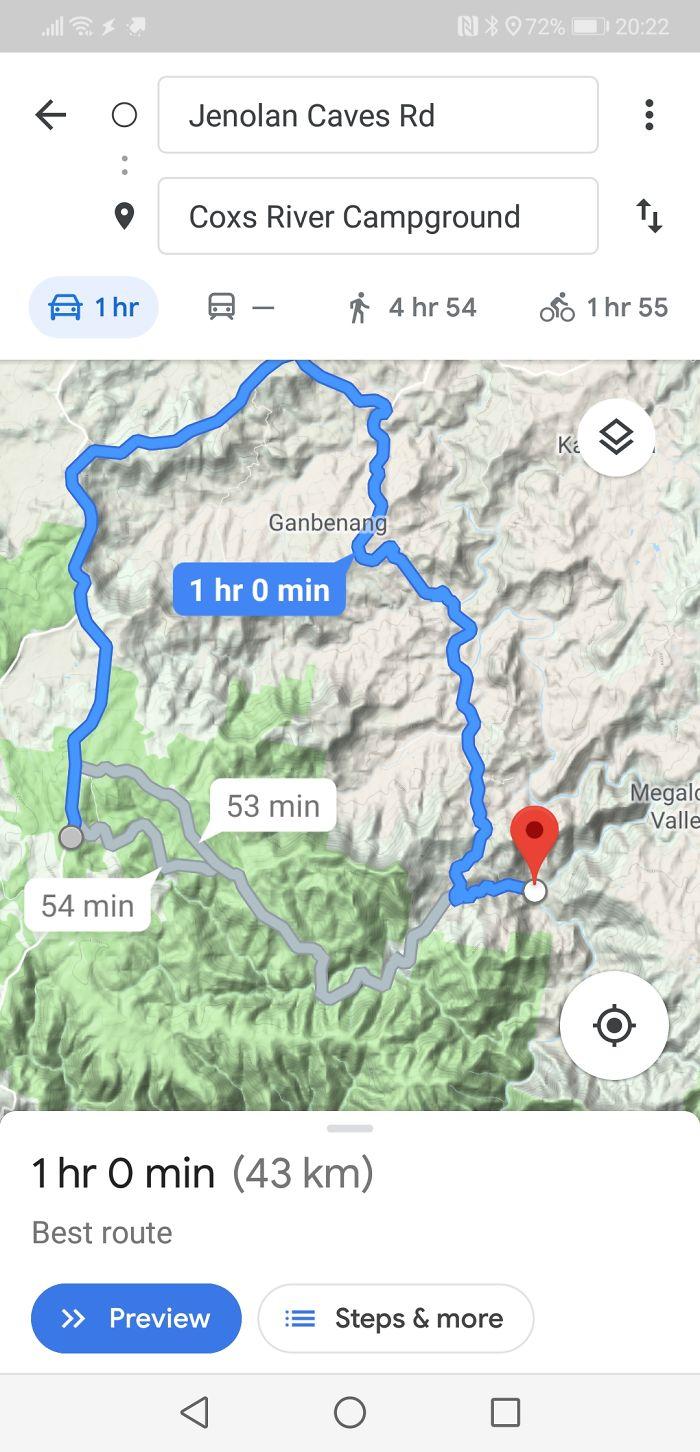 天兵哥挑戰Google地圖捷徑卻「誤闖保育區」 窗外袋鼠集體問號:兄弟這我家欸?