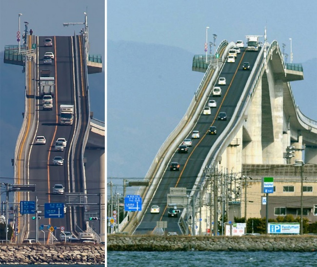 日本人蓋了14層樓高的「雲霄飛車大橋」 在踩油門之前勸你有買好保險!