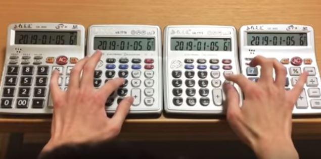 音樂片/狂人用計算機神指快打 竟出現「世界名曲」一次5台辦公桌變演奏廳!
