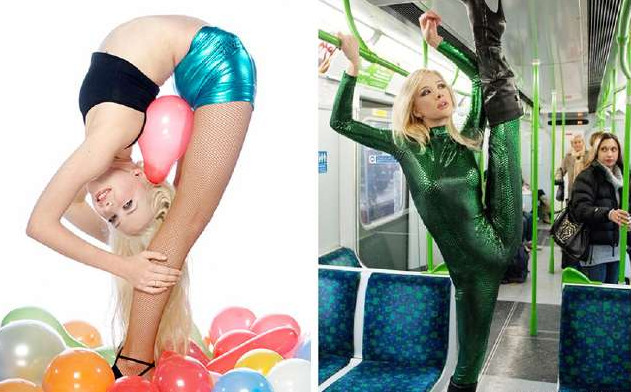 「器官進化成外星人等級」的8個女人 她的腰向後反折180度...金牌直接入袋!