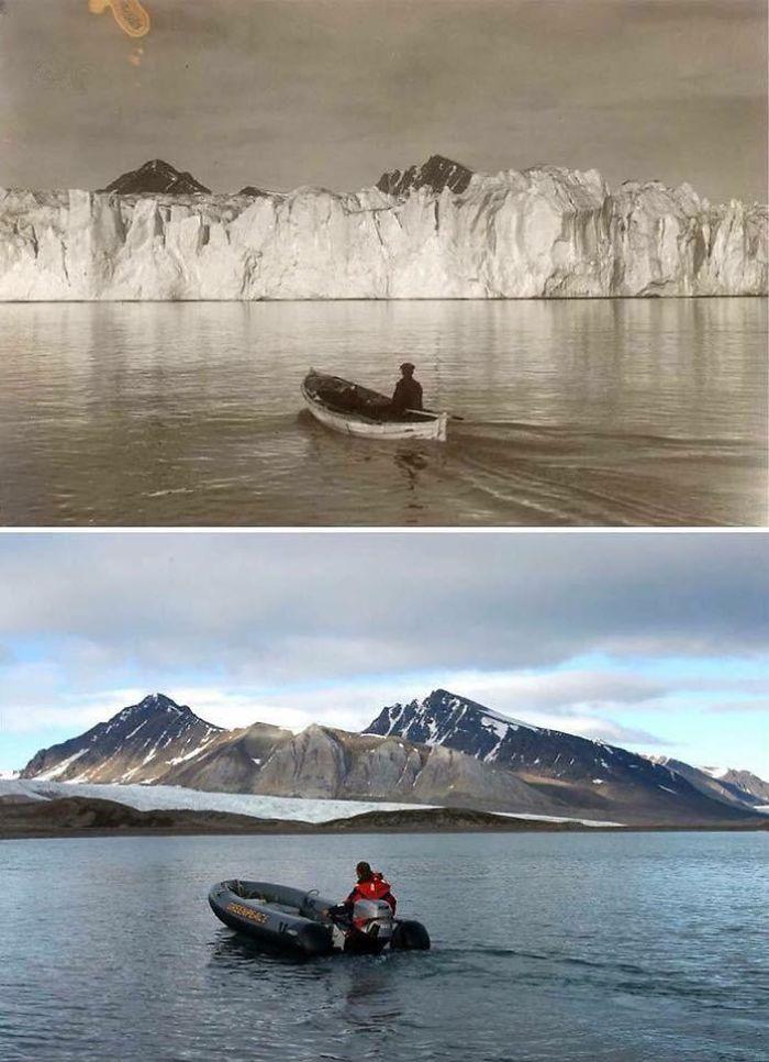 20張證明「透過比較才能看出改變」的驚人對比圖 100年前的北極...跟現在就如兩個世界!