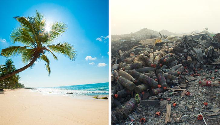 12張揭開「全球著名景點真面目」的震驚照片 「度假勝地」馬爾地夫根本是垃圾場!