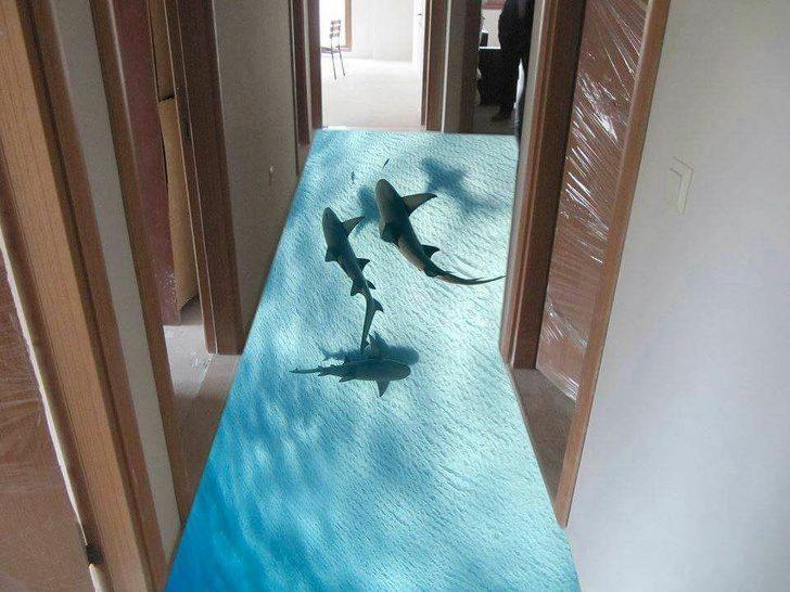 17個讓你「以為自己走錯棚」的3D繪畫居家設計 泡澡竟有海豚過來打招呼!
