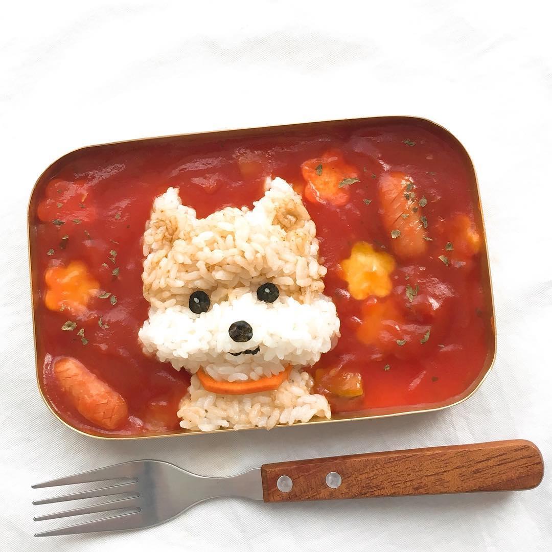 16款「想讓牠永遠在咖哩內泡湯」的超Q狗狗便當 挖一口都是罪惡感!