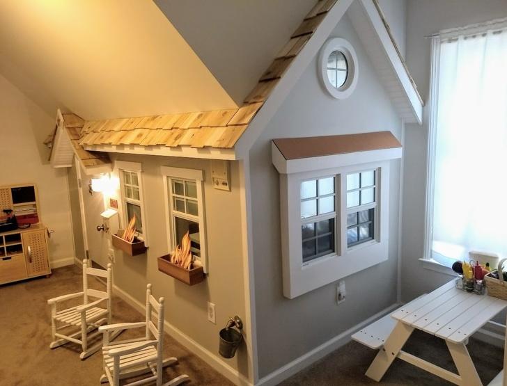 19個「讓人想坐上時光機回到童年」的超狂臥室設計 為了安撫過動小孩…直接在房間打造攀岩墻!