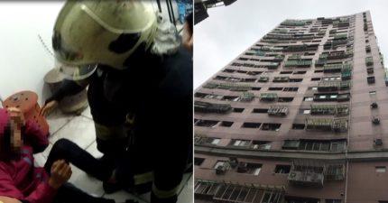 長髮女站25樓流淚!警消驚險救下 卻在「看到她的臉」後感嘆:應該會有下一次
