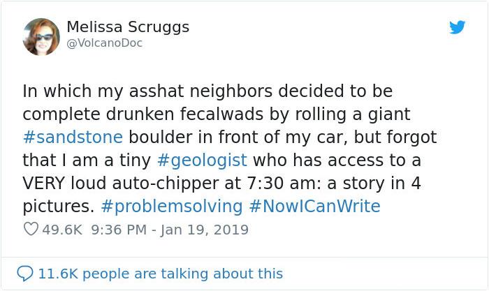 惡鄰居在家開趴還「搬石頭佔停車格」 她用「連巨石強森都害怕」超酷反擊證明他們惹錯人了!