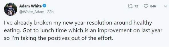 「你2019年的新年願望破功了嗎?」網友分享「超神速破功」紀錄:這次有撐到中午...