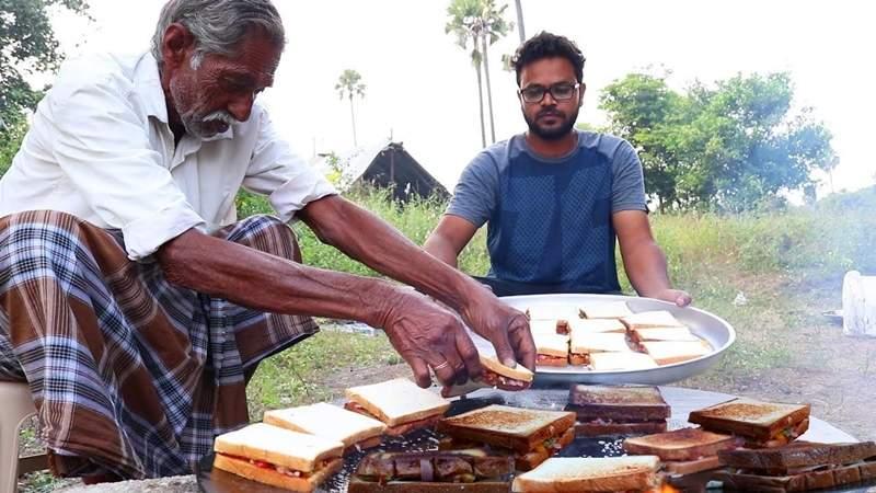 印度暖爺爺「自製超大份量美食」變youtuber 每支影片都有孤兒們的溫暖笑容♥