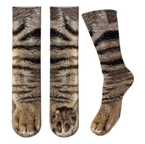 超逼真「主子的腳」毛毛襪 穿上之後瞬間讓你卸下奴才包袱...一起進貓砂盆耍廢!