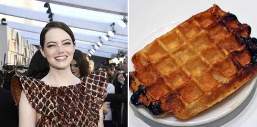 10個被網友揪出「好像在哪見過」的撞衫奧斯卡造型 艾瑪史東是烤焦的鬆餅