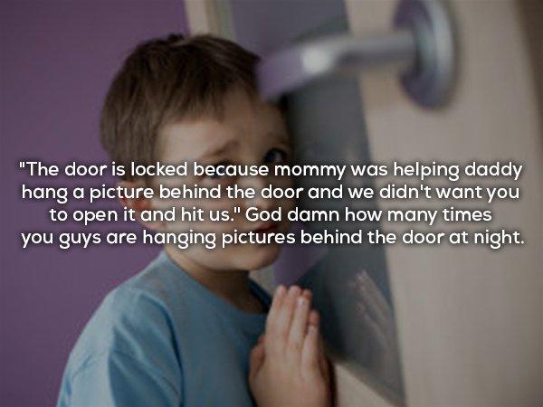 10個小時候大家都聽過的「爸媽的超爛謊言」 晚上房門上鎖的原因...現在你懂了!