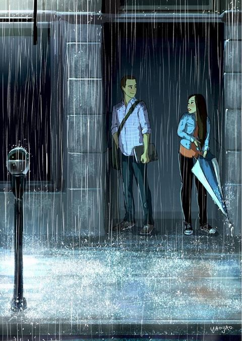 19張「讓你忘光另一半缺點」的浪漫愛情插畫 遠距離最期待「自願熬夜的電話」