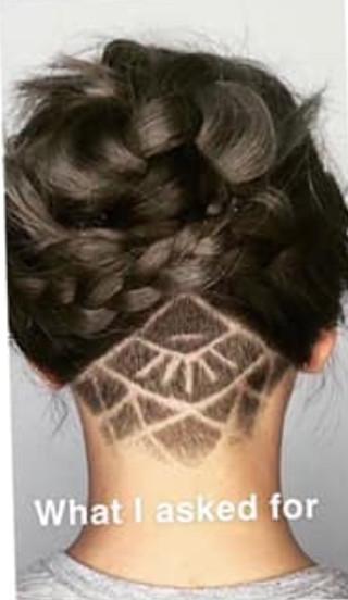 她拿髮型範本要設計師「照著剪就對了」 睜開眼迎接的卻是「被外星人踩過的麥田圈」