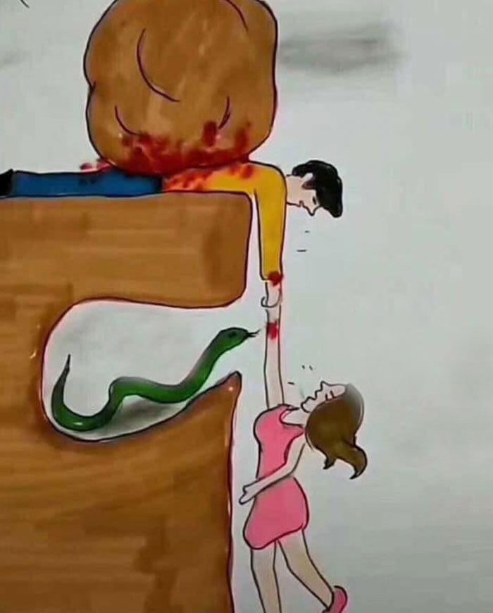 完美解釋「為何情侶常常不懂對方」的插畫 看懂它就離「下一個目標」更近了!