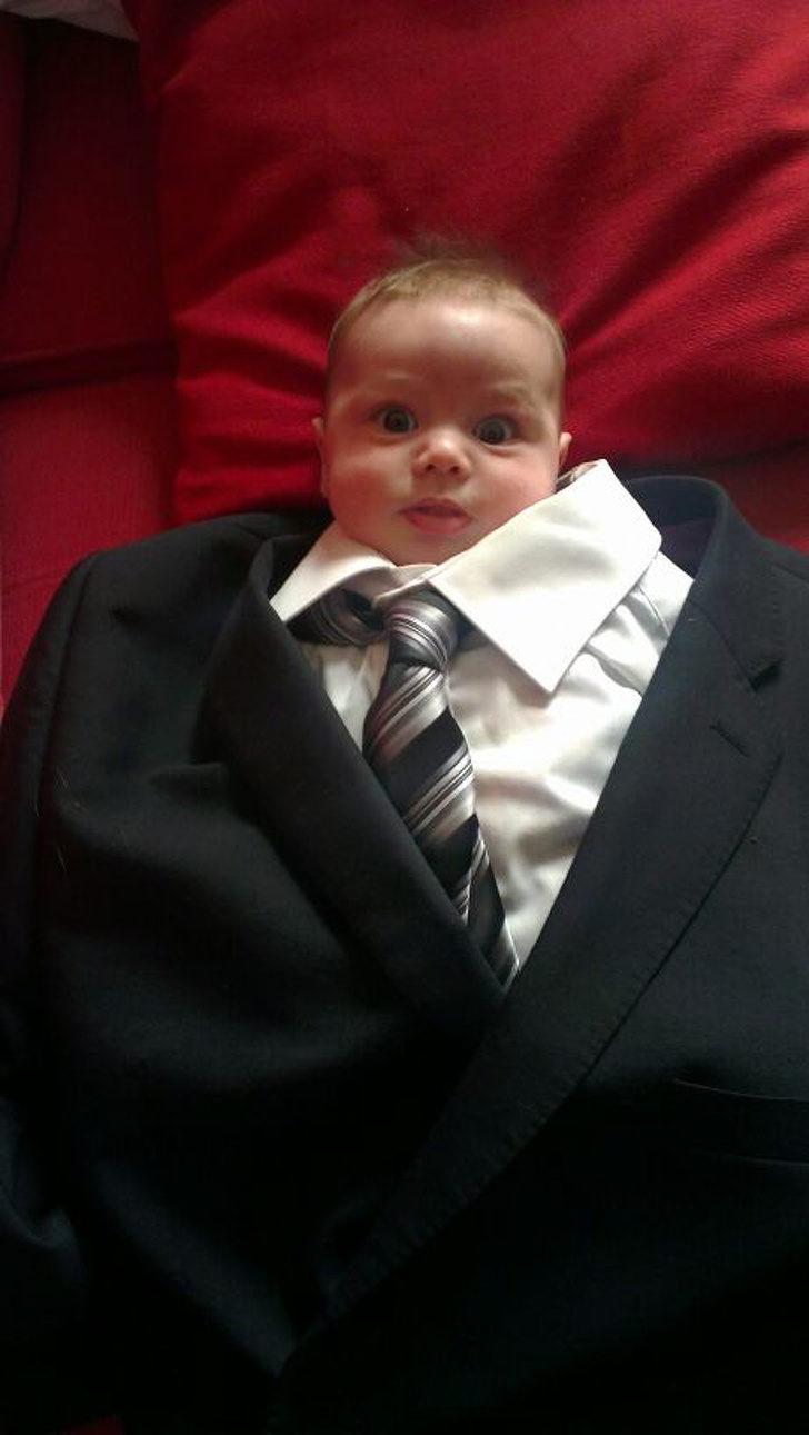 20個「身體裡住著老靈魂」的小寶寶 才3個月就在舉重練身材...