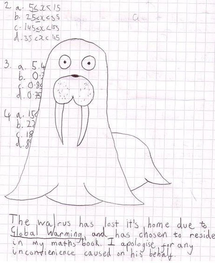 21張「證明小孩擁有最純真靈魂」的爆笑作業簿照片 老師扶額:這樣寫也沒錯啦...